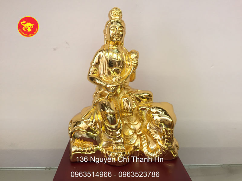 Tượng Phổ Hiền Mạ Vàng cao 12 cm
