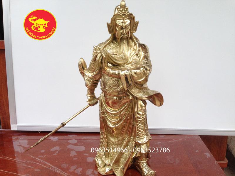 Tượng Quan Công Bằng Đồng Cao 50, 62 cm