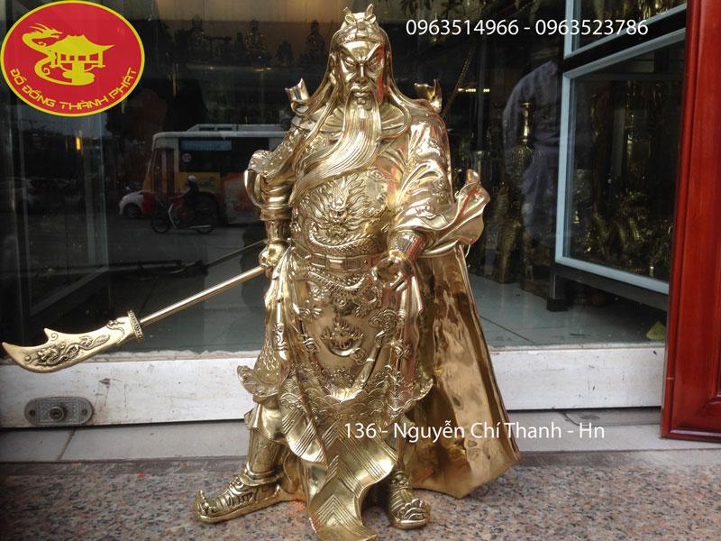 Tượng Quan Công Đồng vàng