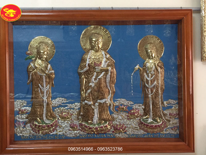 Tranh Tượng Tam Thánh Bằng Đồng