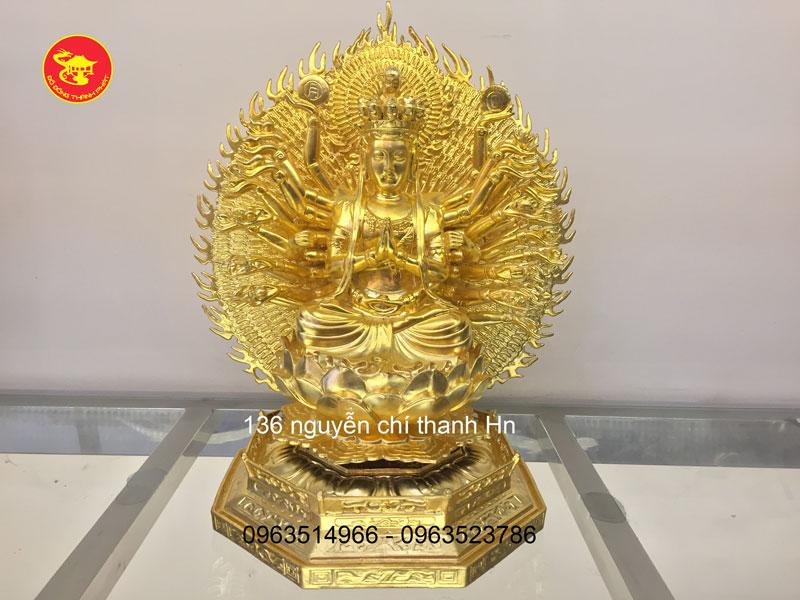 Tượng Phật Thiên Thù Thiên Nhãn Thiếp vàng 9999