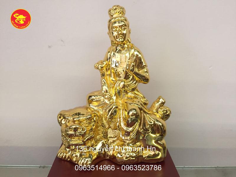 tượng bồ tát văn thù mạ vàng