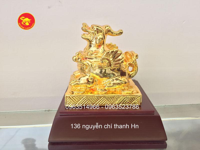 Tỳ Hưu Phong Thủy Mạ Vàng 24 k Đẹp